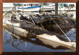 Boat Fires Investigation at Marina