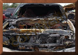 ford explorer damaged by fire