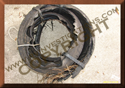 Motorhome/RV/Truck Tire Debris Collection of Evidence