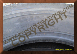 Motorhome/RV/Truck Tire G159 - Tire Failures Investigation